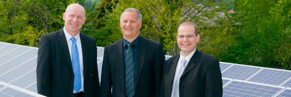 Bild: Vorstände Energie Plus Umwelt eG - Wendelin Geieger, Jürgen Böhm und Holger Dörr