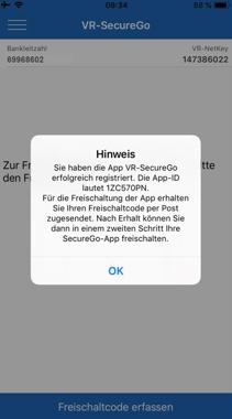VR-SecureGo-App - Freischaltcode