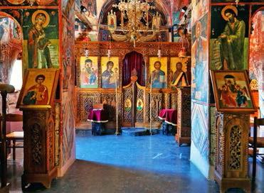 Herrliche Ikonen in den Meteora-Klöstern