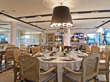 Das gepflegte Hauptrestaurant des Hotels